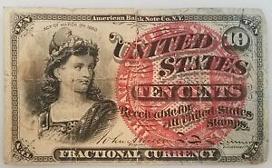 Ten Cents Fractional Currency, Fourth Issue. Fr. #1259