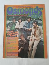 OSMONDS WORLD MAGAZINE - ISSUE 23 SEPT 1975 (INCLUDES DONNY & JAY POSTER!)