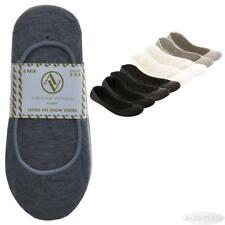 8 Pr Adrienne Vittadini Womens No Show Liner Socks New Solid Sz 5-9.5