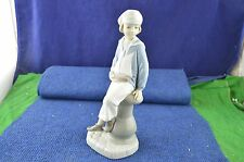 Lovely Lladro ''Boy With Yacht'' Sailor Boy Porcelain Figure No 4810 USC RD7073
