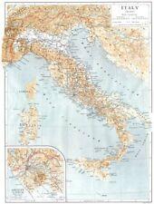 Antica Italia. INSET mappa dell' antica LAZIO 1910 vecchio piano ANTICO grafico