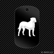 Bullmastiff Keychain GI dog tag engraved many colors  dog canine pet