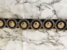 Ladies Retro Style Big Gold Lion Head Belt Runway Belt