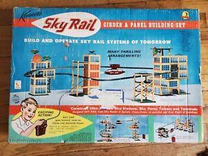 Vintage Sky Rail Girder Panel Building Set #17 Kenner's Futuristic 1960s Toys