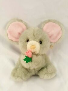 Russ Berrie caress Soft Pets Grey Mouse Jackie 6''
