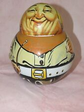 Vintage Cowboy 1979 Chein Industries Roly Poly Tin Litho Bristol Ware Usa