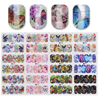 12 Patterns Butterfly Theme Nail Art Water Decals Transfer Stickers Decor Tips
