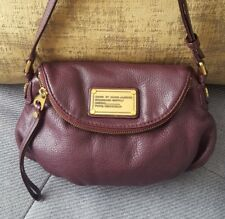 MARC BY MARC JACOBS  NATASHA CROSS-BODY PLUM LEATHER  BAG