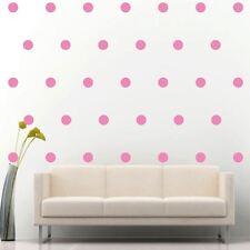 "2"" Set of 200 Soft Pink Polka Dots Circle Wall Decal Vinyl Sticker Wall Pattern"