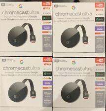 Google Chromecast Ultra 4K TV Streaming/Black - 4pcs