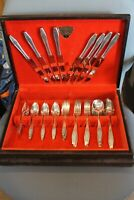 WM. A. Rogers Triple Plate 50 Pc. Flatware Set, Countess-Baroness Pattern