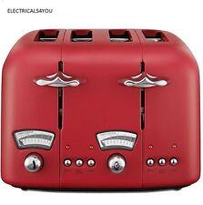 DELONGHI CT04R1 4 SLICE TOASTER - MATT RED (N)