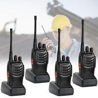 4X Baofeng BF-888S  Walkie Talkie UHF 400-470MHZ 2-Way Radio 16CH  Long Range