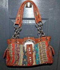 Montana West Handbag Shoulder Bag Purse with Rhinestones and buckle