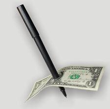 Pop Close Up Magic Penetration Pen Through Paper Dollar Bill Money Party Trick