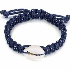 Beach Sea Shell Bracelet Anklet Jewelry Camping Parachute Cord Rope Chain Bangle