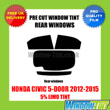 HONDA CIVIC 5-DOOR 2012-2015 5% LIMO REAR PRE CUT WINDOW TINT