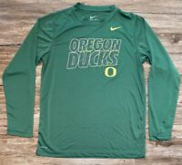 Nike Dri-Fit Oregon Ducks NCAA Long Sleeve Shirt  Boys XL Green Yellow