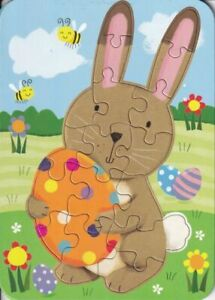 Papyrus Easter Card - 17-piece Puzzle with Bunny & Polka-Dot Egg - Fun wishes!
