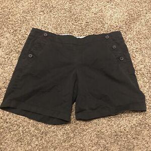 j. Crew womens size 12 black cotton blend shorts b6