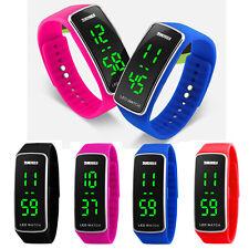 Men Womens Fashion Casual Silicone LED Sport Bracelet Touch Digital Wrist Watch