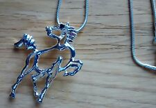 Very attractive Silver Plated 925 Modern Horse Design Necklaces @ £6.95p each !