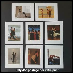 """Jack Vettriano Mounted Art Prints 10"""" x 8"""" Choose From 60 Designs WHITE MOUNT"""