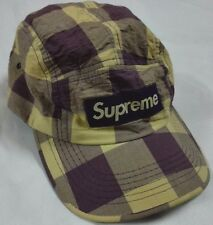 SUPREME BOX LOGO SNAP BACK 5 PANEL HAT USA CAMP TRUCKER CAP Striped Hip Hop Camo