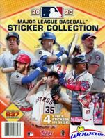 2020 Topps Baseball Stickers HUGE 44 Page Collectors Album-4 Bonus Stickers!