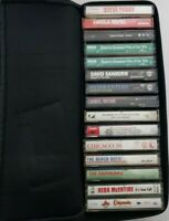 Lot of 15 cassette tapes from the 50s,60s,70s,80s,90 with case Logic case