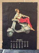 VESPA PIAGGIO Vintage Italian DECEMBER JANUARY 1959 Calendar MODS GS150 SCOOTER
