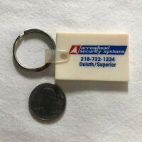 Arrowhead Security Systems Duluth Superior Keychain Key Ring #36541
