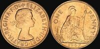 1967 GREAT BRITAIN 1 PENNY ELIZABETH II BU UNCIRCULATED OLD COIN IN HIGH GRADE