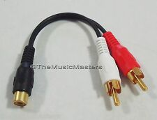 """Premium RCA Audio """"Y"""" Cable Adapter HQ Splitter 1 Female to 2 Male Plugs VWLTW"""