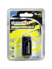Ultramax 9V Size PP3 R22 6HR61 NIMH 180mAh Rechargeable Battery | 1 Pack