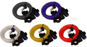Oxford Bicycle Bike Cycle Coil Spiral Cable Lock 12mm x 1.8m 5 Colours Available