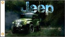 Jeep Hiking Car Flag banner 3x5 ft Vertical Garage Man Cave Hiker Tour Camping