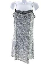 DIVIDED H&M BLACK BLUE CAMI STRAP NIGHT DRESS SIZE UK 6 EUR 32 10580