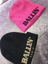 ddbbe904f7b Lot Of 2 Brian Lichtenberg Black Pink BALLIN Paris Beanie Snowboard Ski Snow