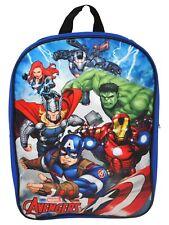 Marvel Avengers Boys School Backpack Book Bag Superheroes Blue Kids Toy Gift