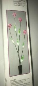 LED battery operated lighted diamond branch with lighted leaves classic quarters