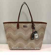 Brand New Ralph Lauren Delwood Classic Tote Handbag Stone $198.00