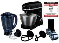 AEG Multifunktions-Küchenmaschine 3 Series schwarz mit Zubeh?r Mixer Edelstahl