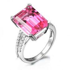 Fashion Silver Pink Ametrine Gemstone Ring Wedding Jewelry Gifts Size 9