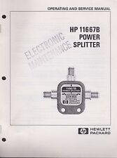 Operating and service manual HP 11667B power splitter hewlett-packard guaranteed