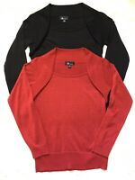 LOT 2 Women's AB Studio Lightweight Sweaters Top Size Medium M Sparkle 04-15Q78