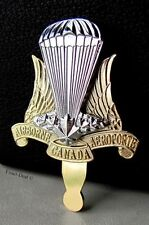 Canadian Airborne Paratrooper Gold and Silver Metal Beret Hat Badge