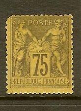"""FRANCE STAMP TIMBRE N° 99 """" SAGE 75c VIOLET SUR ORANGE """" NEUF x A VOIR"""