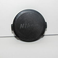 Used Nkon 52mm Front Lens Cap Made in Japan Snap on type BLACK