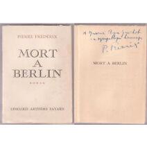 MORT A BERLIN de Pierre FREDERIX avec envoi signé !!